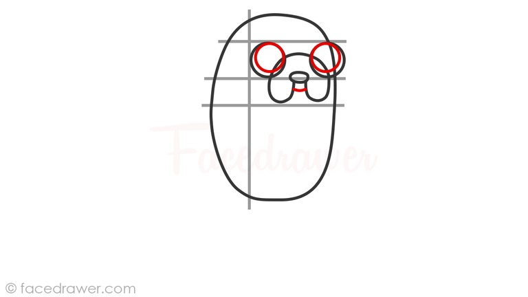 how to draw jake adveture time step 5
