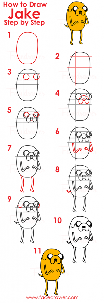 how to draw jake infographic