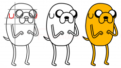 how to draw jake step by step thumb featured