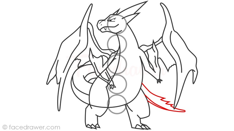how to draw pokemon charizard step by step
