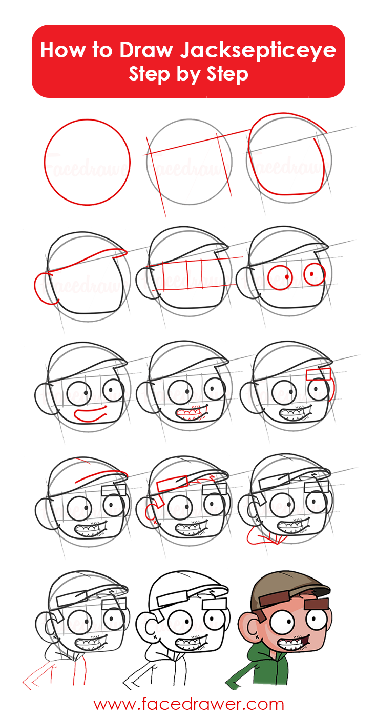 And Here Is Thegraphic How To Draw Jacksepticeye