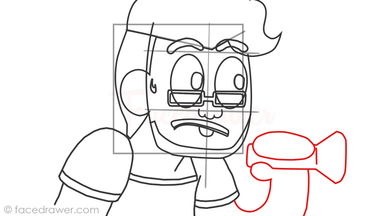 How to draw markiplier step 10