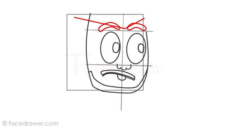 How to draw markiplier step 5