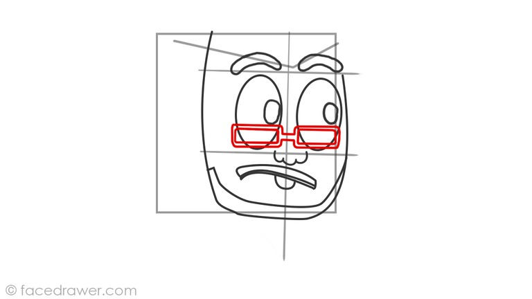 How to draw markiplier step 6