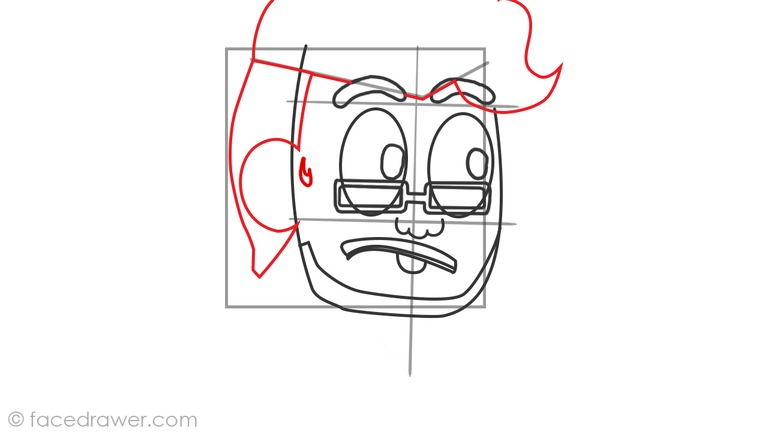 How to draw markiplier step 7