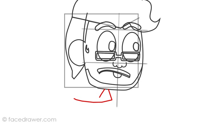 How to draw markiplier step 8
