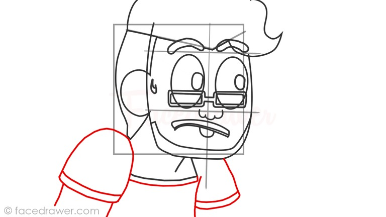 How to draw markiplier step 9