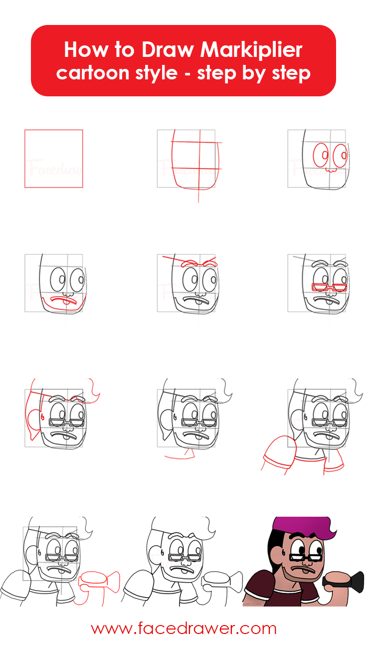 How to draw makiplier step by step
