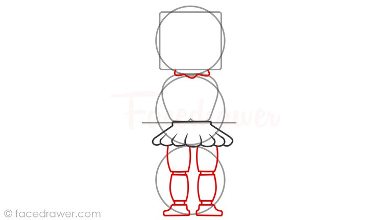 how to draw baby sister location step 5