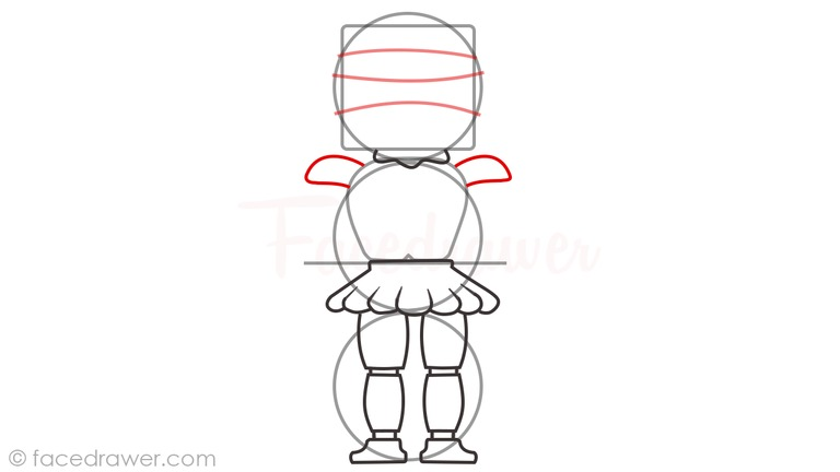 how to draw baby sister location step 6