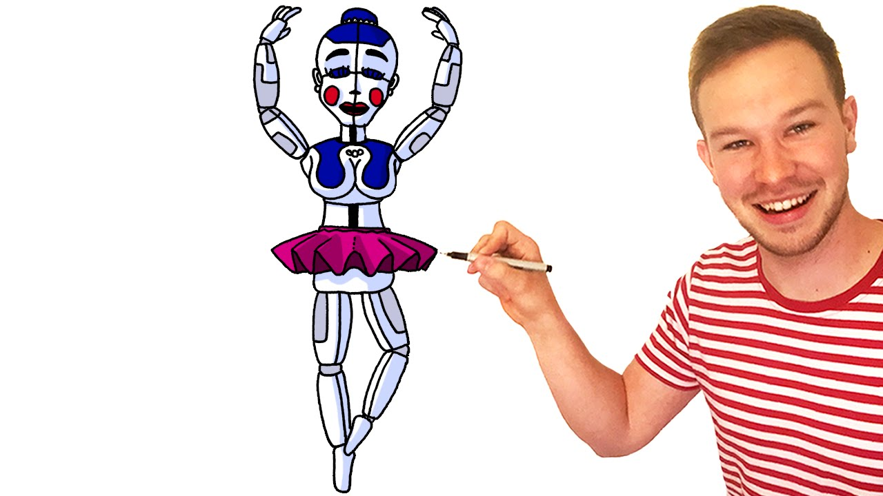 Pictures Of Ballora Cute: Drawing Ballora From FNaF Sister Location All Characters