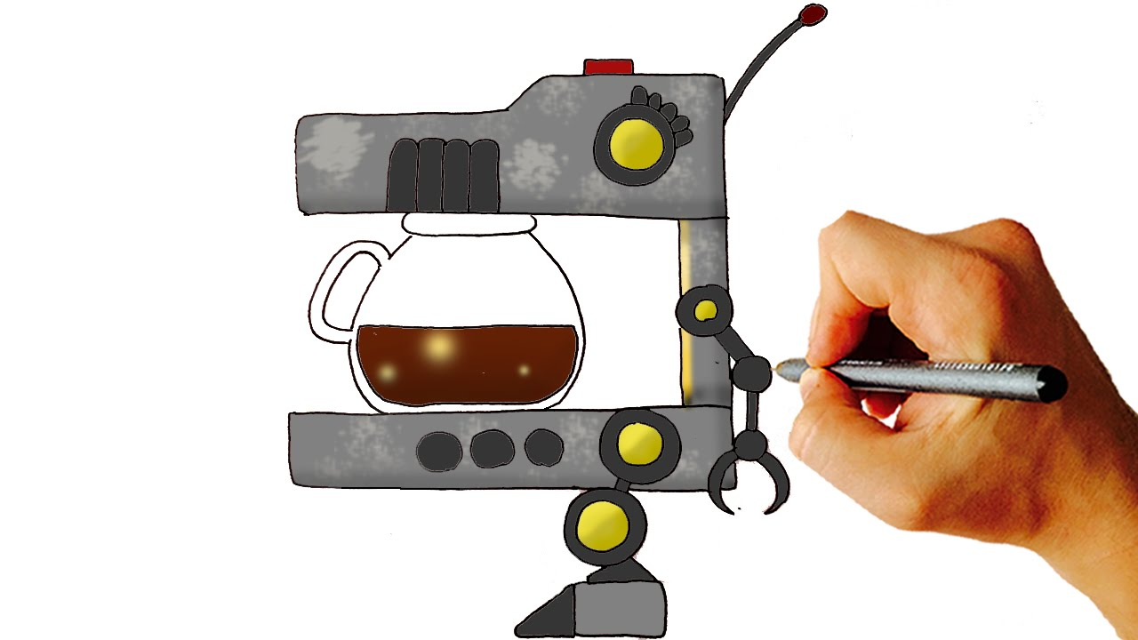 How to Draw Adventure Coffee Pot from FNaF World ...