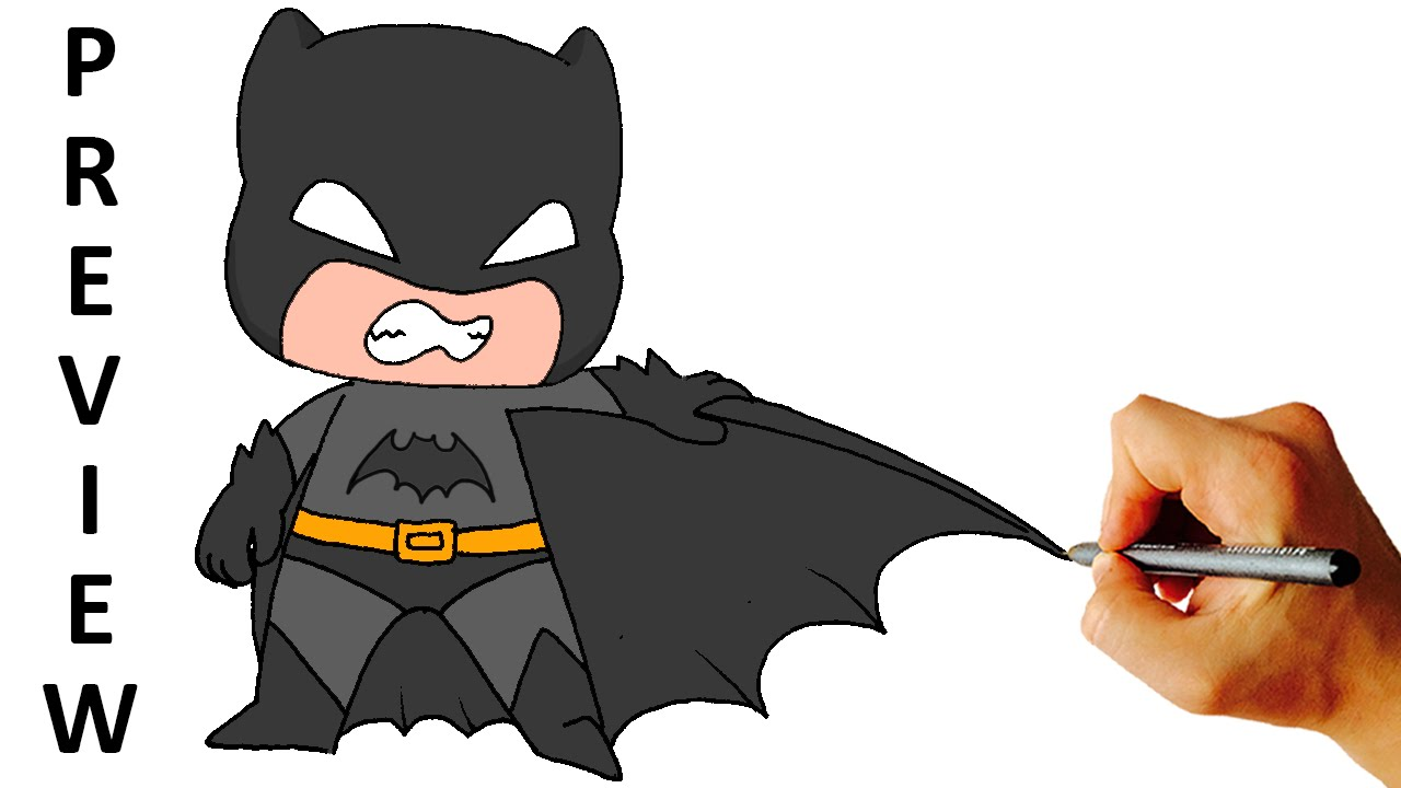 How To Draw Batman Chibi From Batman Comics Easy Step By