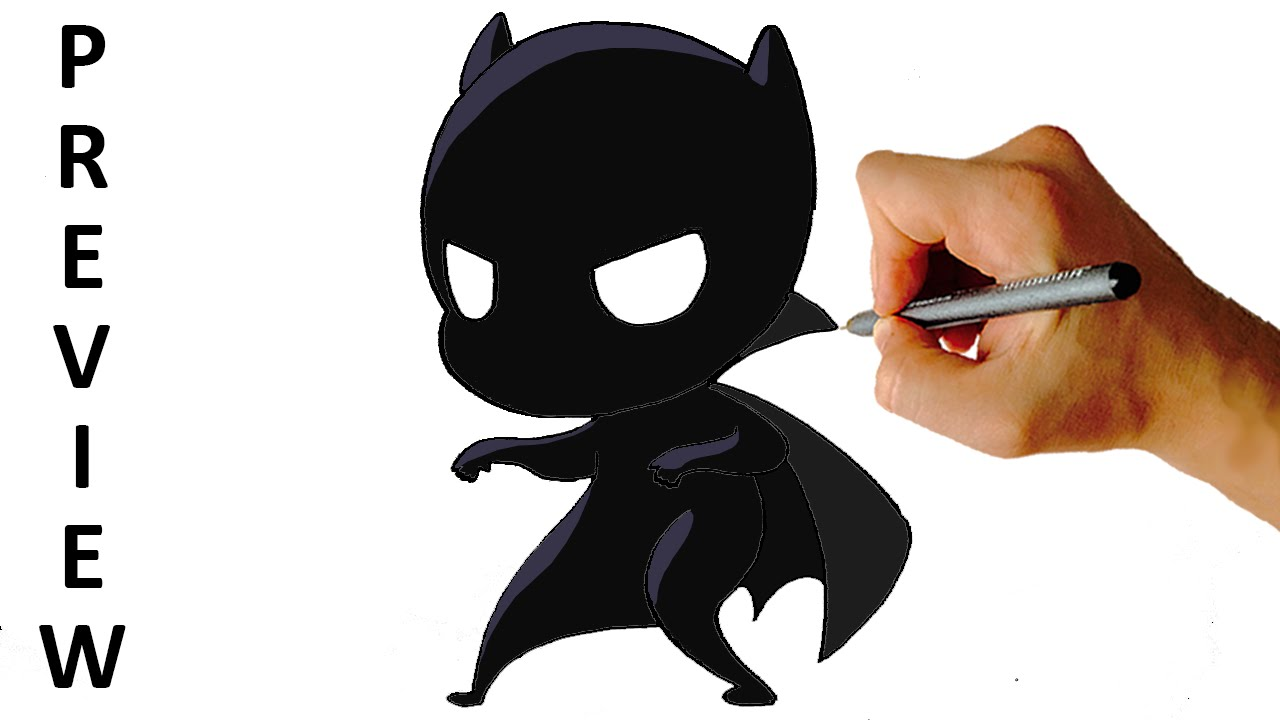 How To Draw Black Panther Chibi Easy Step By Step Video