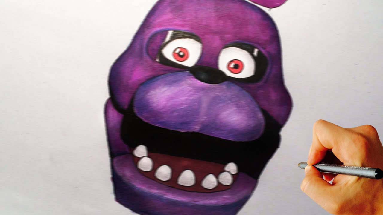 How to draw Bonnie jumpscare from Five Nights at Freddy's