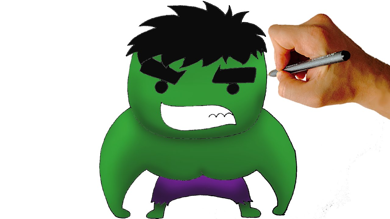 How To Draw Chibi Hulk Easy Step By Step Video