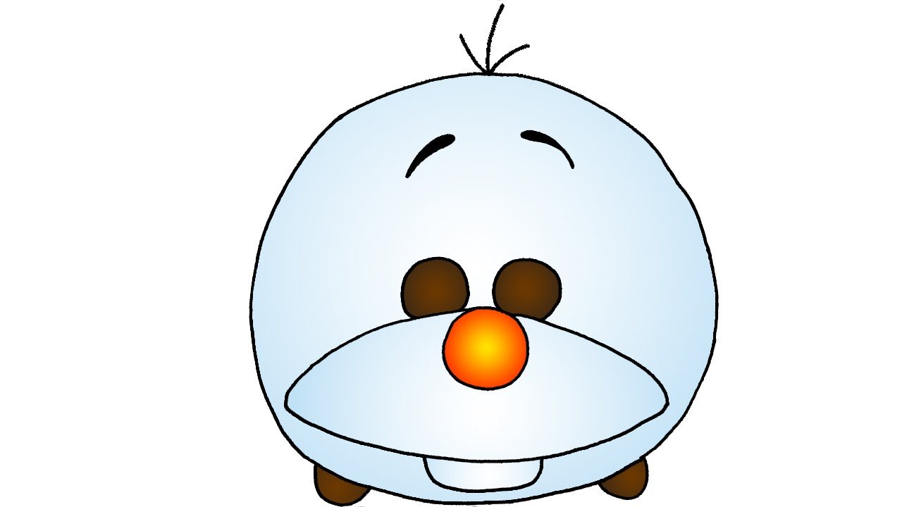 How To Draw Cute Olaf From Frozen Disney Tsum Tsum Style