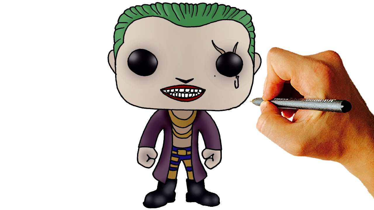 How To Draw Joker Chibi From Suicide Squad Step By Step