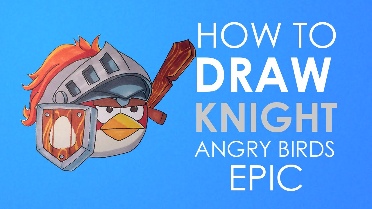 How To Draw Mighty Eagle From Angry Birds Movie