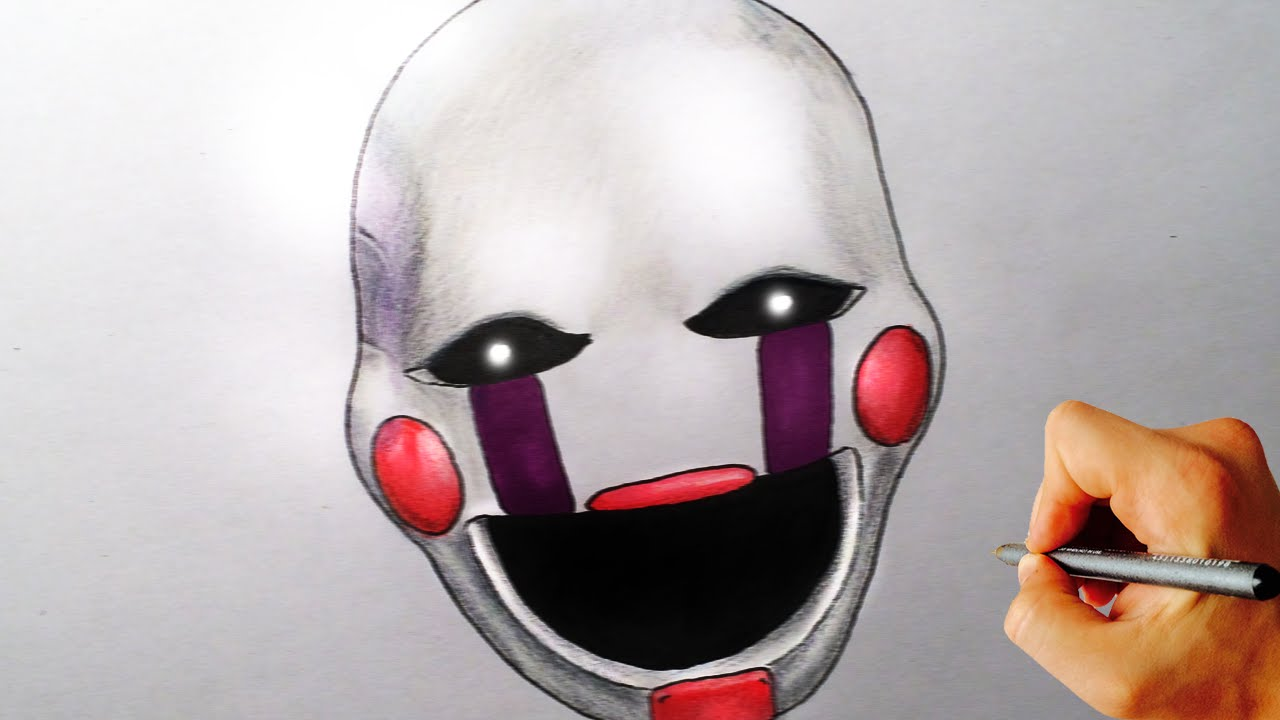 how to draw marionette puppet from five nights at freddy s fnaf