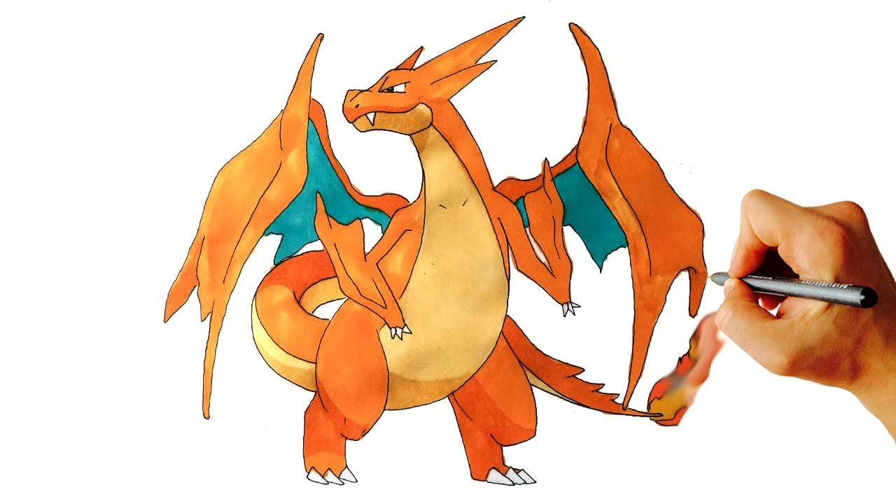How to draw mega charizard y from pokemon x y step by step - Pokemon xy mega pokemon ...