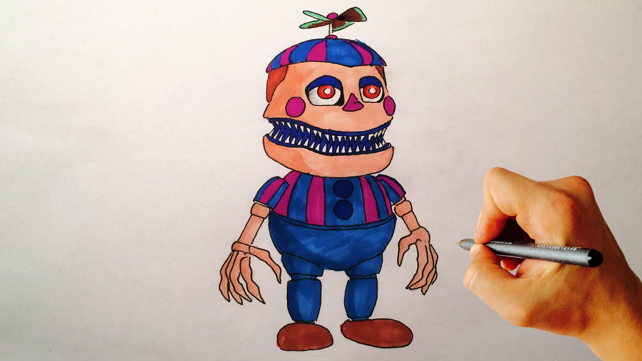 How to draw Nightmare JJ from FNAF 4 Halloween edition Drawing ...