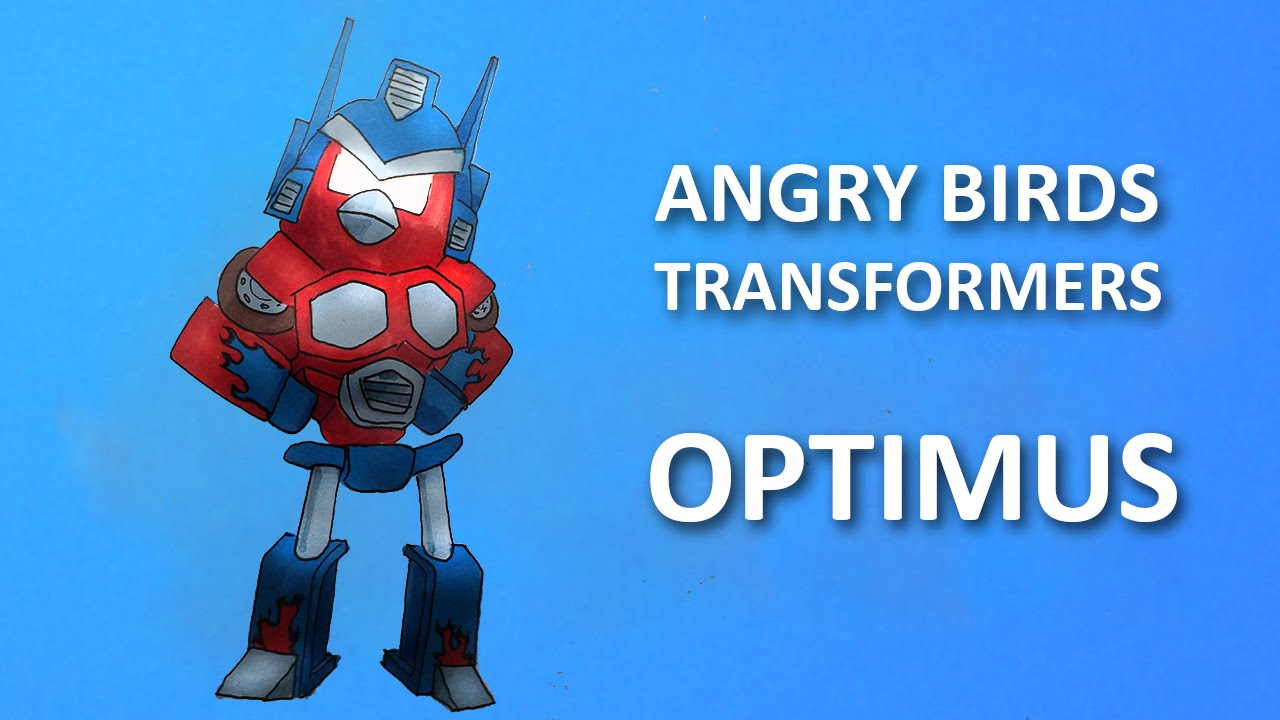 How To Draw Optimus Prime From Angry Birds Transformers Facedrawer