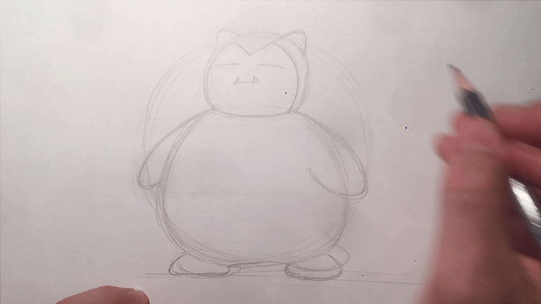 How To Draw Snorlax From Pokemon Go Step By Step Art Lesson
