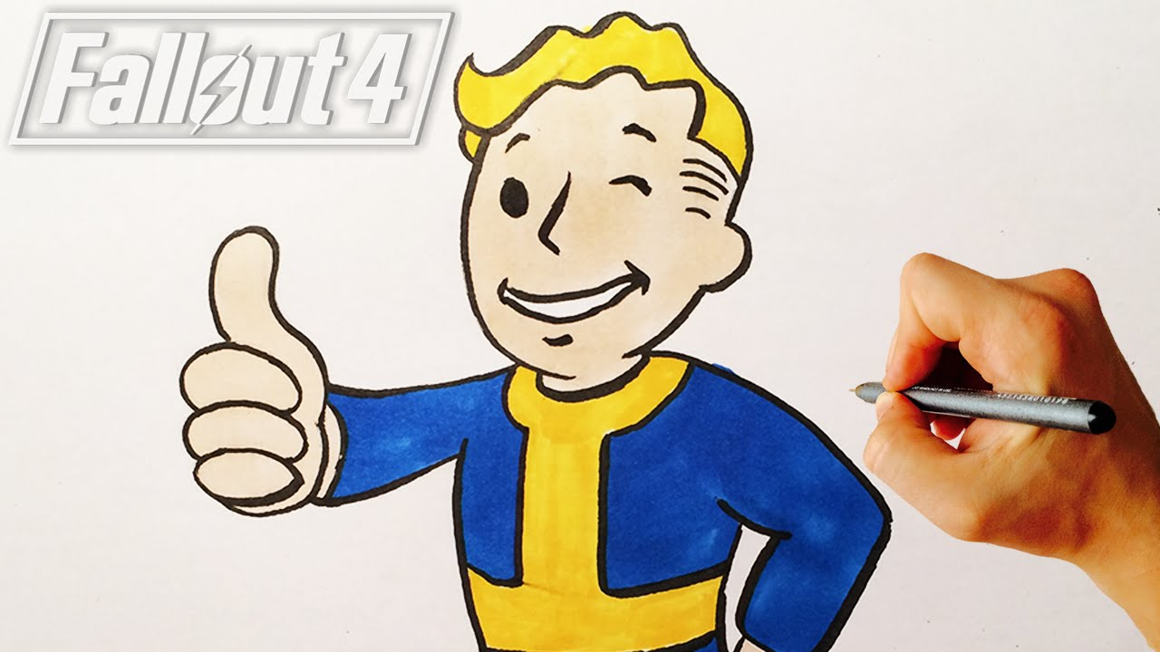 How To Draw Vault Boy From Fallout 4 Drawing Lesson Facedrawer