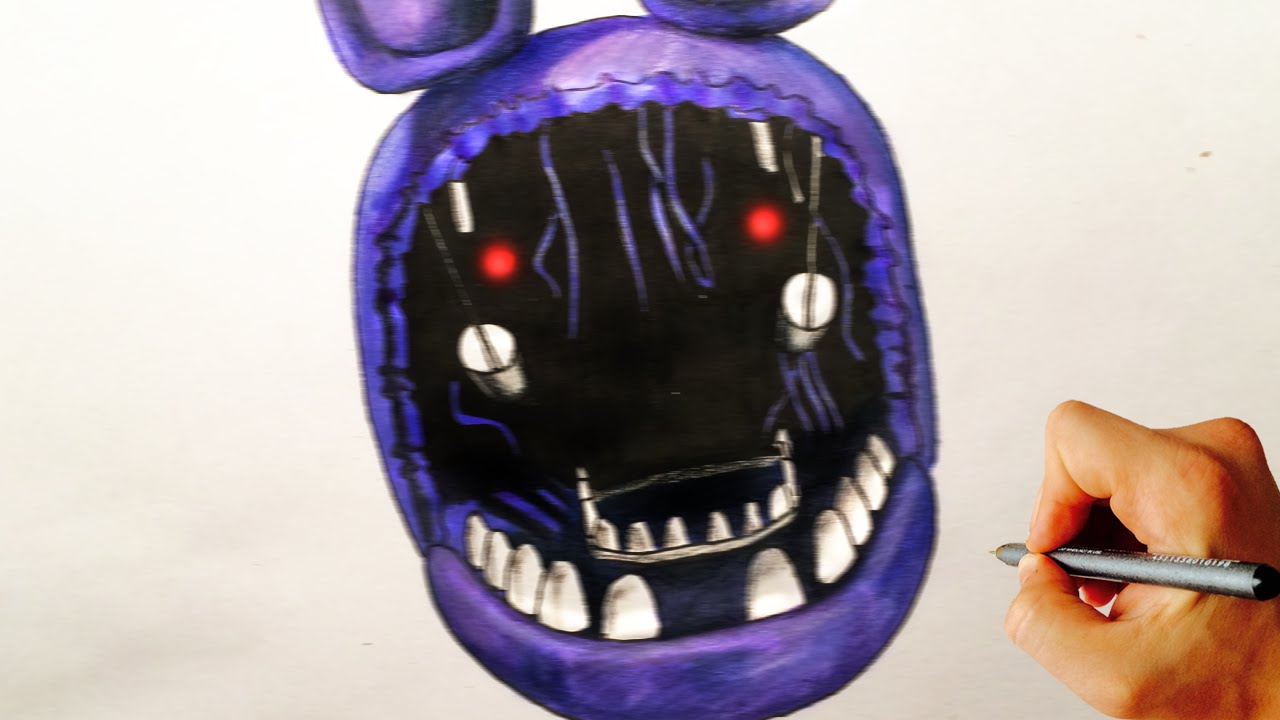 How to draw withered Bonnie jumpscare from Five Nights at