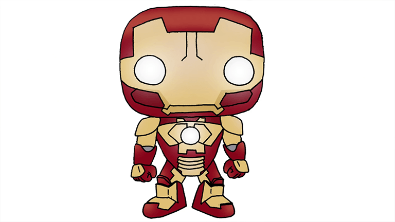Iron Man Chibi Step By Step Art Lesson Learn How To Draw Easy Way