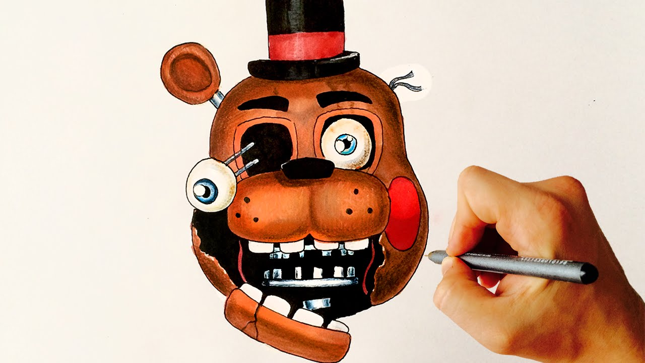 Old Toy Freddy : How to draw withered toy freddy from five nights at