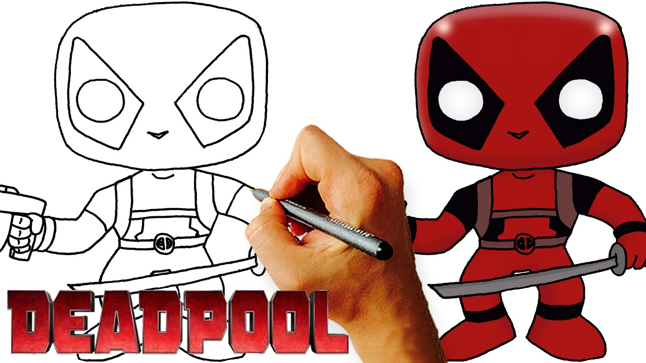 How To Draw Chibi Deadpool Step By Step Drawing Lesson
