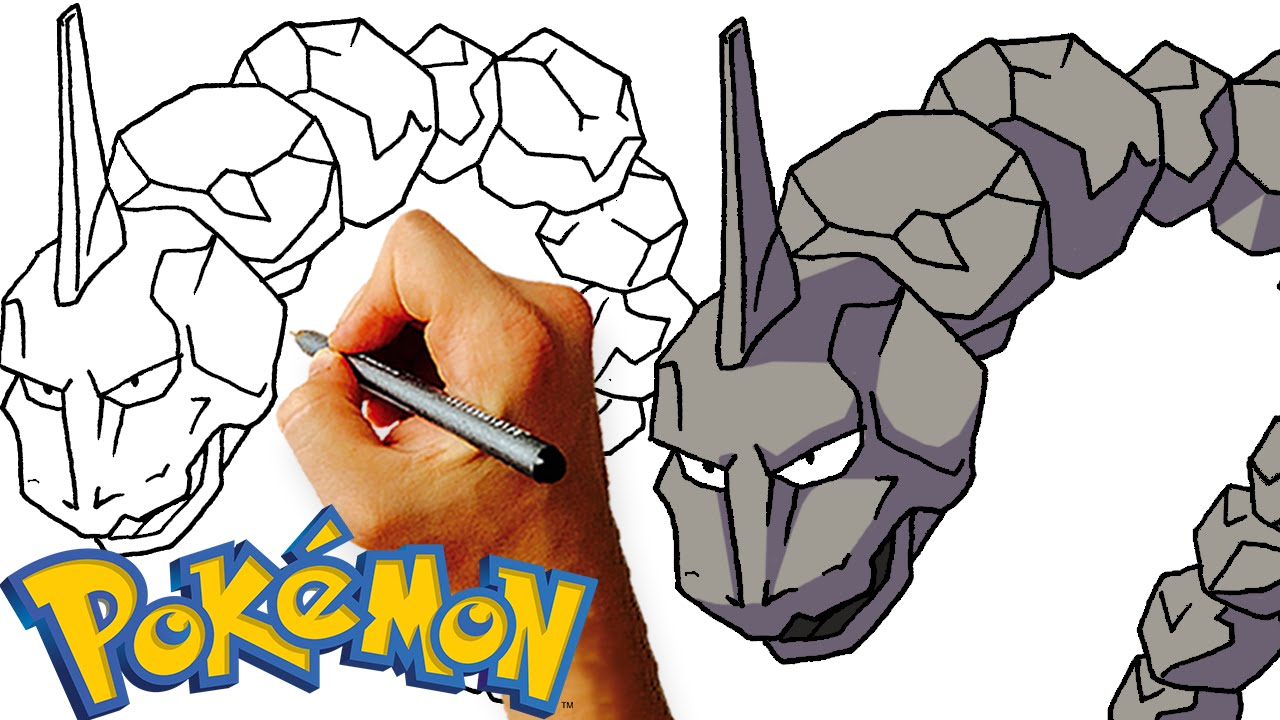 Onix Easy Step By Drawing Lesson Learn How To Draw Pokemon