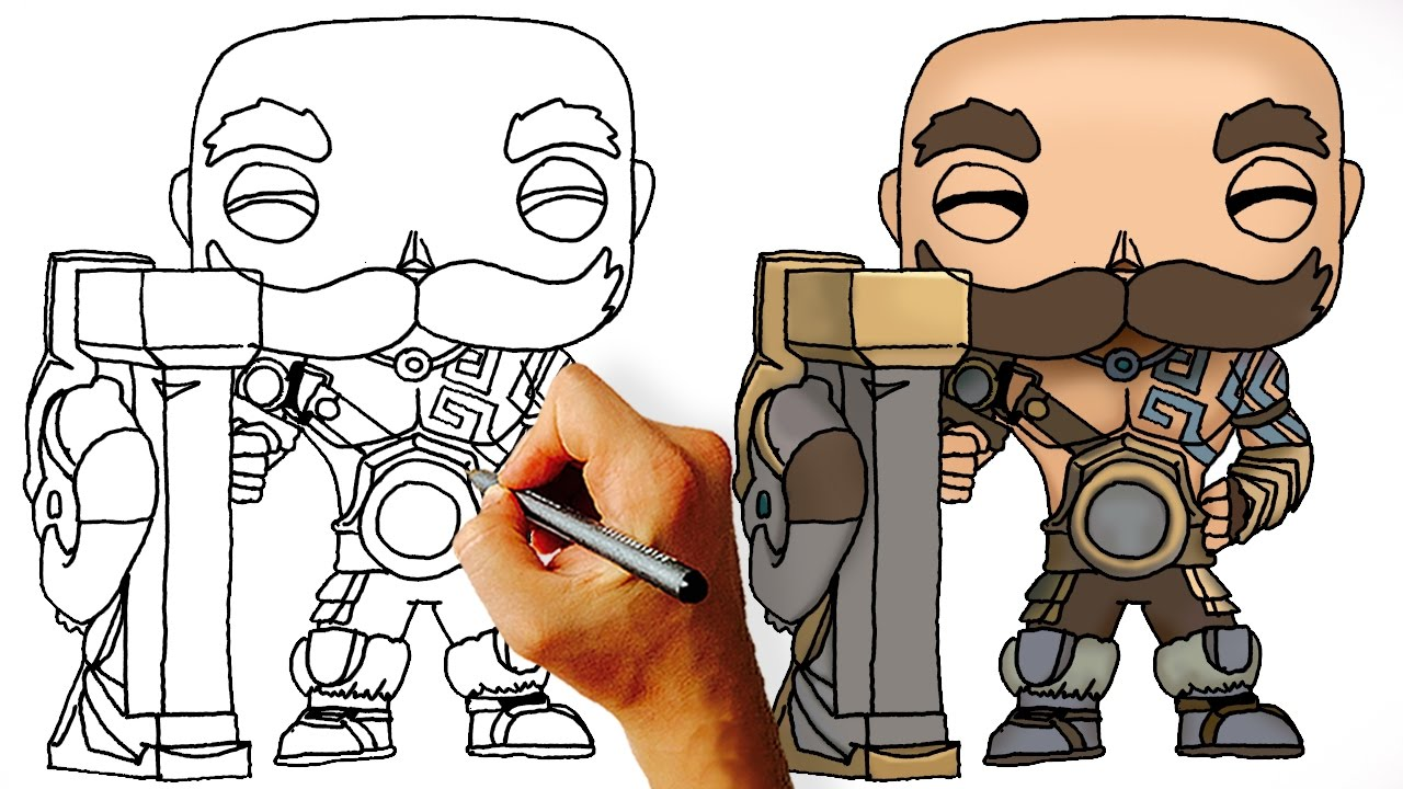 How To Draw Braum League Of Legends Champions Facedrawer