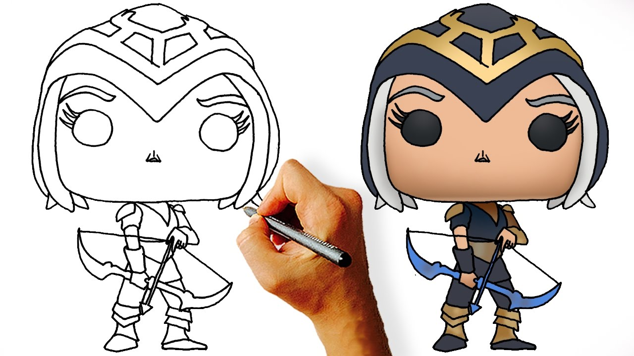How To Draw Chibi Ashe €� League Of Legends Champions