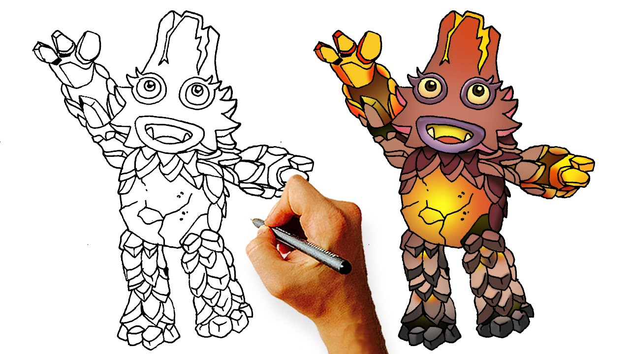 how to draw a mon