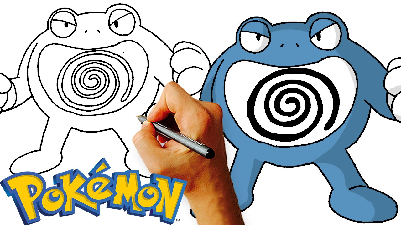 How To Draw Poliwrath From Pokemon Step By Art Lesson