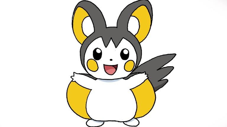 emolga drawing lesson step 13