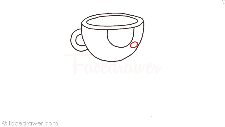 how to draw cuphead step 4