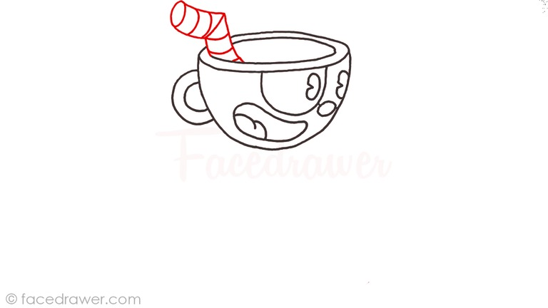 how to draw cuphead step 7