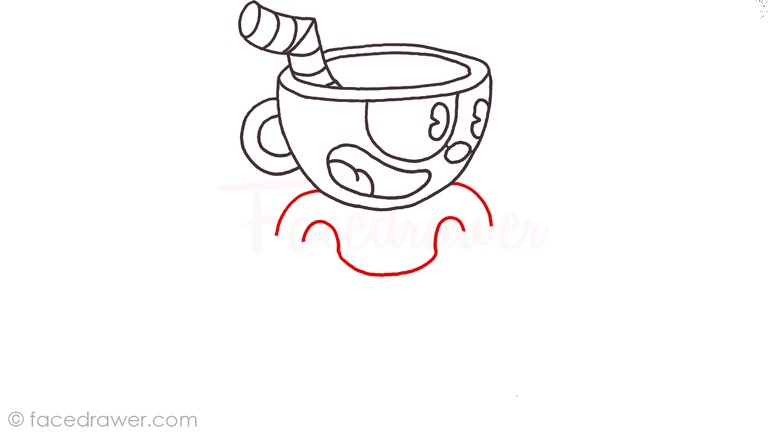 how to draw cuphead step 8