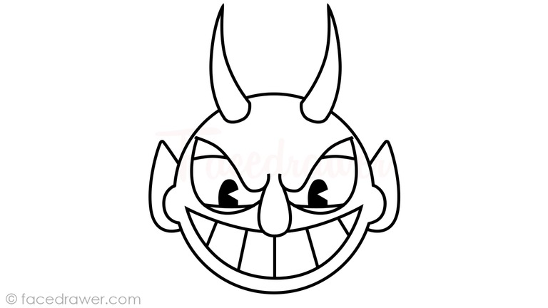 how to draw the devil from cuphead step 10